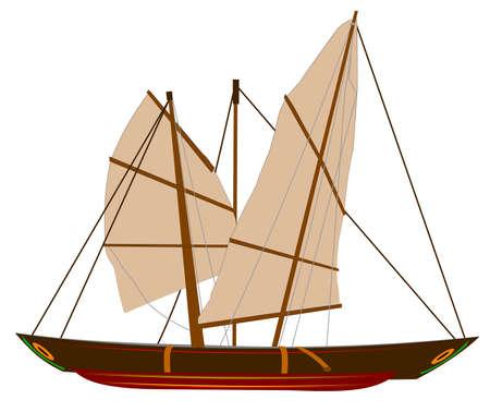 pulleys: sampan junk boat