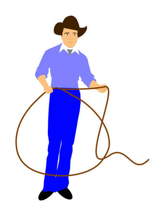 stetson: cowboy with lasso