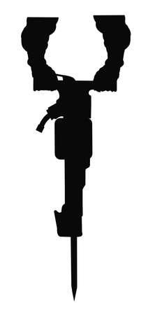 Pre�lufthammer: Presslufthammer mit spitzen Bit