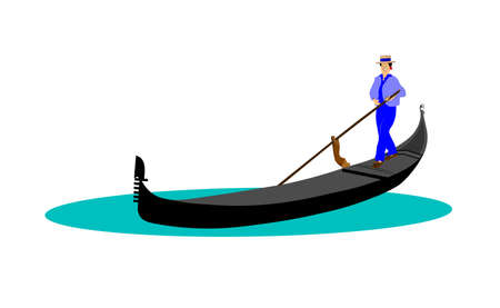 gondola with gondolier in water