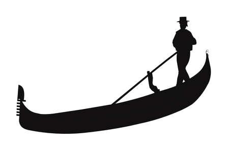 gondola: gondola in silhouette