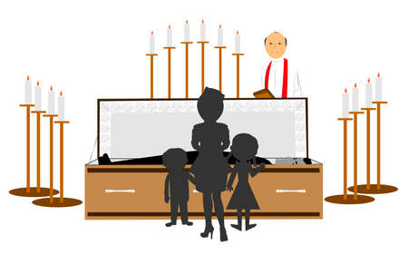 family funeral Stock Photo