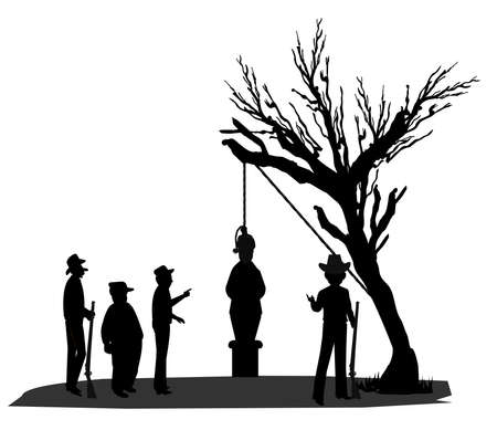 lynching in silhouette
