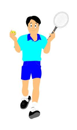 raquet: tennis player