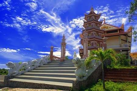southeastern: Buddhist Temple in Phan Thiet  Southeastern Vietnam  Stock Photo