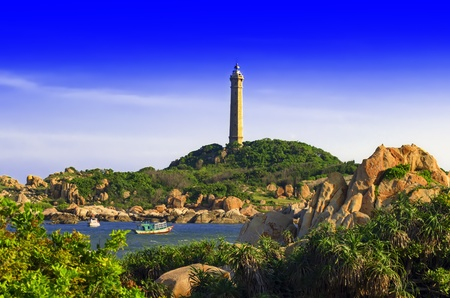ga: Khe Ga Lighthouse  Lighthouse was built on the top of Khe Ga island with the area of 5 hectares in the seaside at Than Thanh commune, Ham Thuan Nam district, about 30 km South East of Phan Thiet city