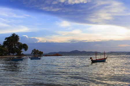 amat: Wong Amat Beach Evening. North of Pattaya City, Thailand. Stock Photo