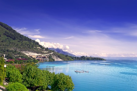 north island: View of Lake Toba.  North Sumatra, Indonesia.