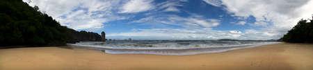 aonang: Aonang Beach of Krabi Province. Thailand, Muang.  Stock Photo