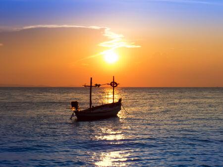 amat: Fishing Boat on Wong Amat Beach. Chon Buri, Thailand.