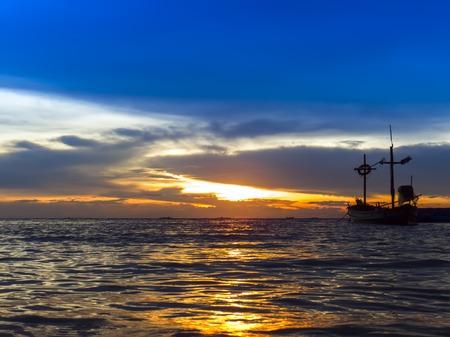 amat: Solar Path on Wong Amat Beach. Chon Buri, Thailand.