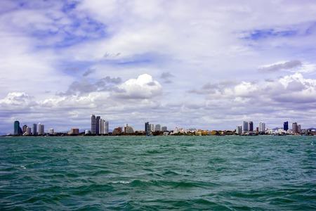 amat: View to Pattaya  Stock Photo