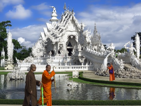unconventional: Wat Rong Khun  Contemporary unconventional Buddhist temple  Editorial  Chiang Rai, Thailand -  July 10, 2014