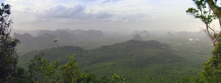 aonang: Tab Kak-Hang Nak Hill Panorama. Krabi Province Thailand