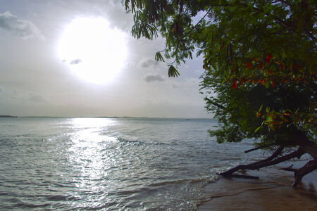aonang: Coastal Line and Sea in Krabi Province, Thailand Stock Photo