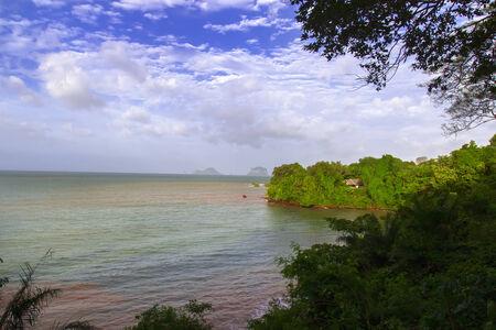 aonang: Coastal Strip and Sea in Krabi Province, Thailand