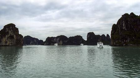 long bay: Ships and Rocks in Ha Long Bay, Vietnam.
