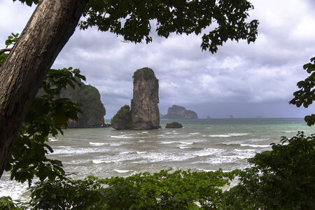 aonang: Before the Storm in Krabi Province, Thailand Stock Photo