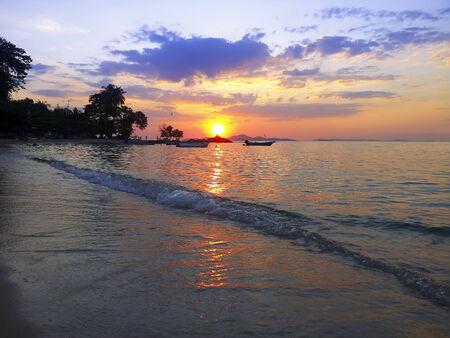 amat: Westering Sun on the Wong Amat Beach.