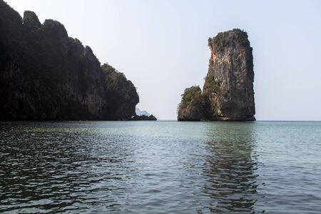 aonang: Coastal Line in South of Thailand in Krabi Province