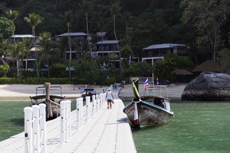 krabi: Coastal Line in Krabi Province. EDITORIAL Thailand, Krabi 12.02.2015