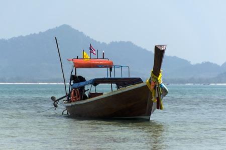 mook: Longtail Boat near Koh Mook Island in Trang Province