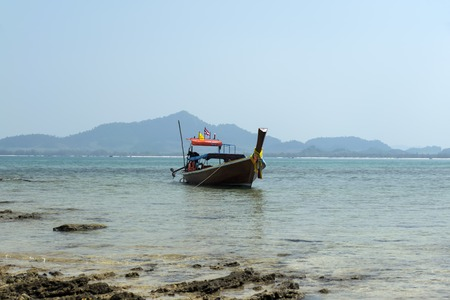 mook: Longtail Boat near Koh Mook Island in Trang Province, South Thailand