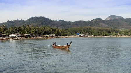 mook: Longtail Boat near Koh Mook Island in Trang Province, South Thailand Trang, Thailand - January 22, 2015 Editorial