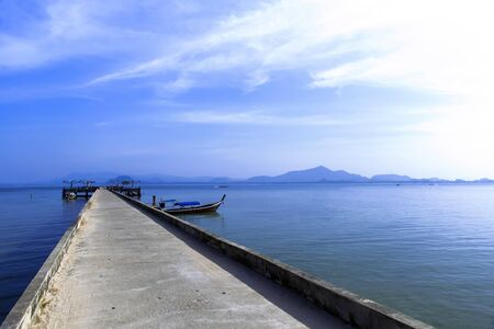 mook: Koh Mook Island Pier. Trang Province, Thailand Stock Photo