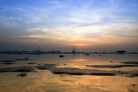 mook: Koh Mook Island Coast Line on Sunset Stock Photo