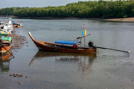 trang: Long Tail Boat in Trang, South Thailand