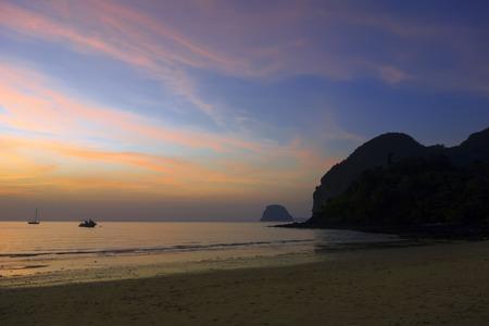 inception: Koh Mook Island Coast Line. Night Inception