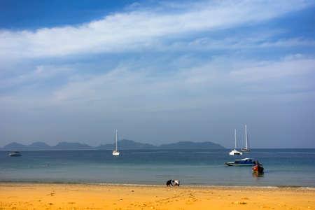 mook: Koh Mook Island Charlie Beach. Trang Province, South Thailand Stock Photo
