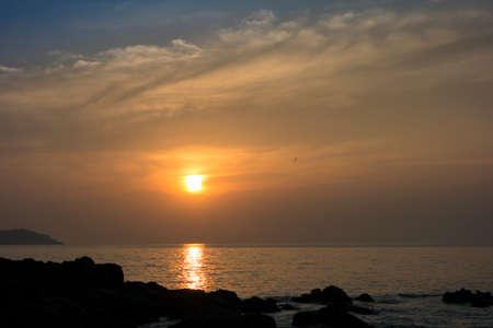 mook: Evening Sun on Charlie Beach in Koh Mook Island