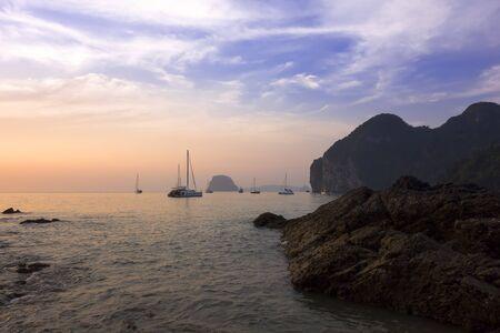 mook: Evening on Charlie Beach in Koh Mook Island
