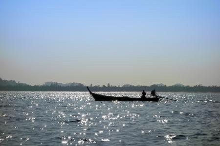 mook: Fisherman Boat near Koh Mook Island Coast Line.