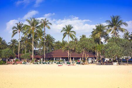 mook: Morning on Charlie Beach in Koh Mook Island Stock Photo