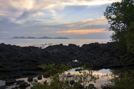 mook: Evening near Charlie Beach in Koh Mook Island