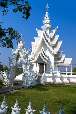 foreigners: Part of Wat Rong Khun. More well-known among foreigners as the White Temple, is a contemporary unconventional Buddhist temple in Chiang Rai, Thailand.