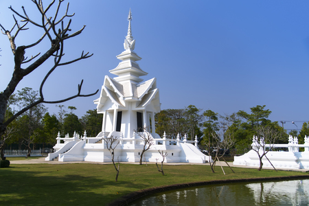 unconventional: Part of Wat Rong Khun. More well-known among foreigners as the White Temple, is a contemporary unconventional Buddhist temple in Chiang Rai, Thailand.