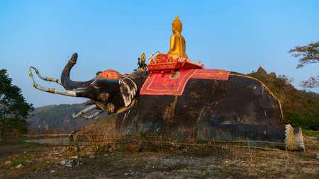 headed: Three Headed Elephant near Chiang Rai City