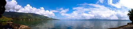 sumatra: Panorama of Lake Toba, North Sumatra Indonesia