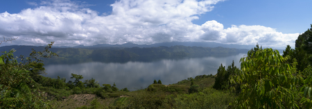 Samosir Island in Lake Toba North Sumatra Indonesia Stock Photo