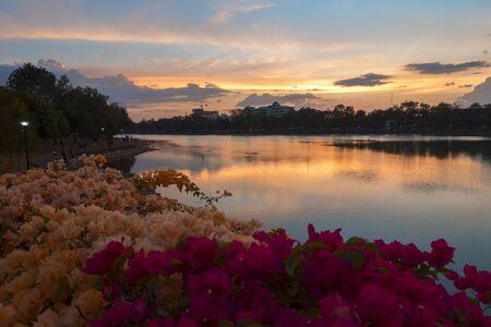Wat Mai, Mueang Chanthaburi District. Thailand Evening Stock Photo