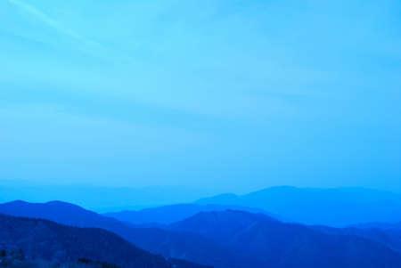 osaka: Mt. Kongo mountain range in Osaka Stock Photo