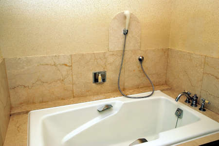 Dry, clean bathtub in a luxurious hotel room Stock Photo - 5355749
