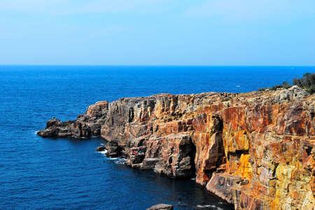 treacherous: Treacherous cliffs along the sea coast