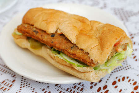 sumptuous: Sumptuous looking vegetarian sandwich with a variety of raw vegetables. Suitable for concepts such as diet and nutrition, healthy eating and healthy lifestyle, and food and beverage.