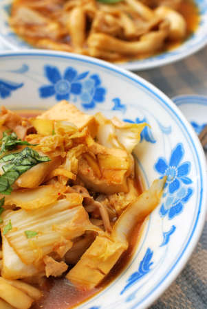 Delicious and healthy Chinese vegetarian delicacy cooked with Chinese white cabbage. Suitable for concepts such as diet and nutrition, healthy lifestyle, and food and beverage.