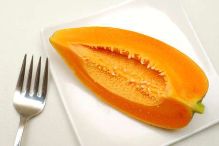 Healthy papaya fruit for a healthy lifestyle. For diet and nutrition, and health related concepts.